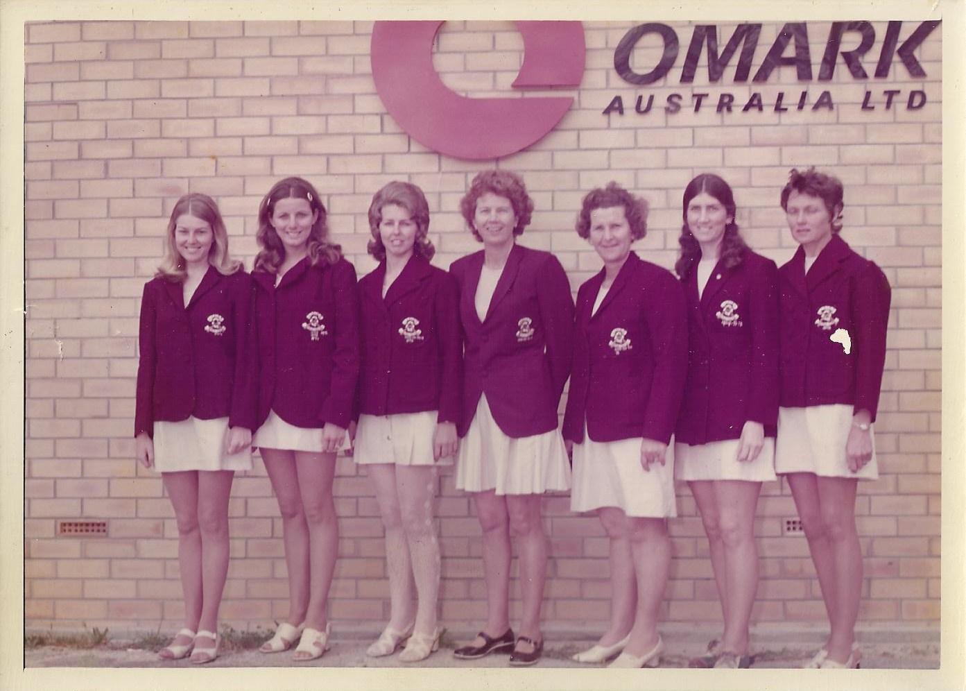 Qld Ladies Team. Diann Cope & Carol Richardson 1971